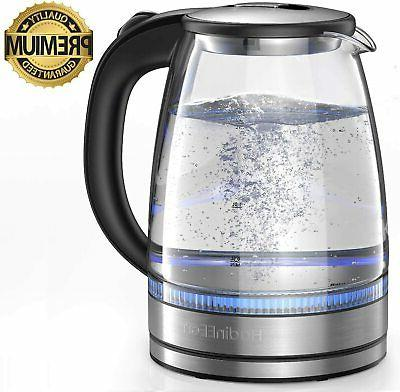 hadineeon electric kettle 1 7l glass electric