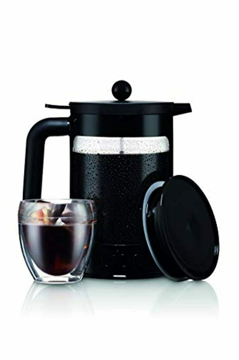 Bodum K11683-01WM Brew Coffee Maker, Oz, Jet Black