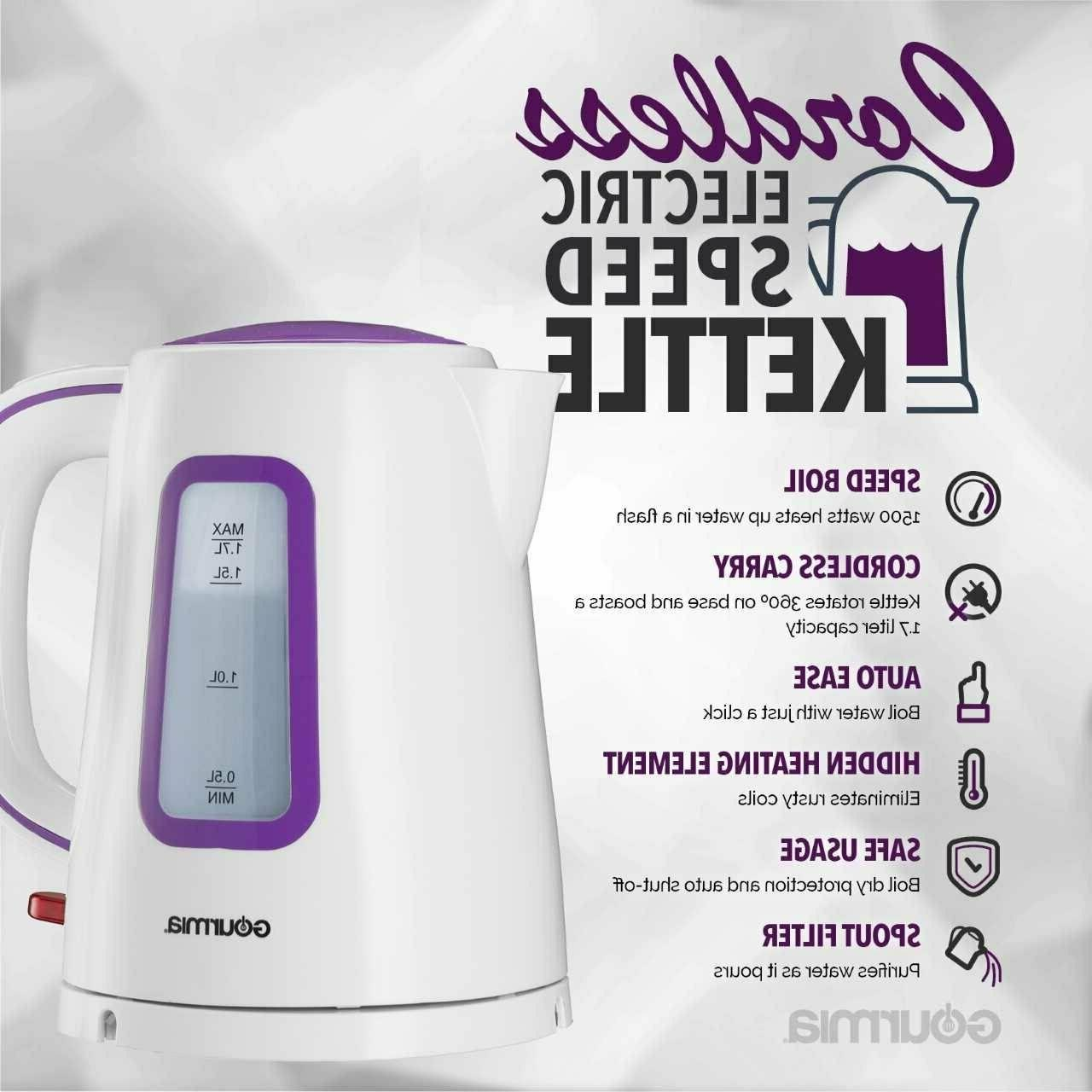 kettle cordless electric coffee tea water fast