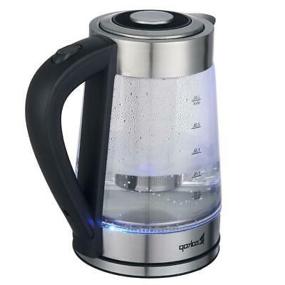 New Durable Electric Glass Water Kettle Pot Sliver