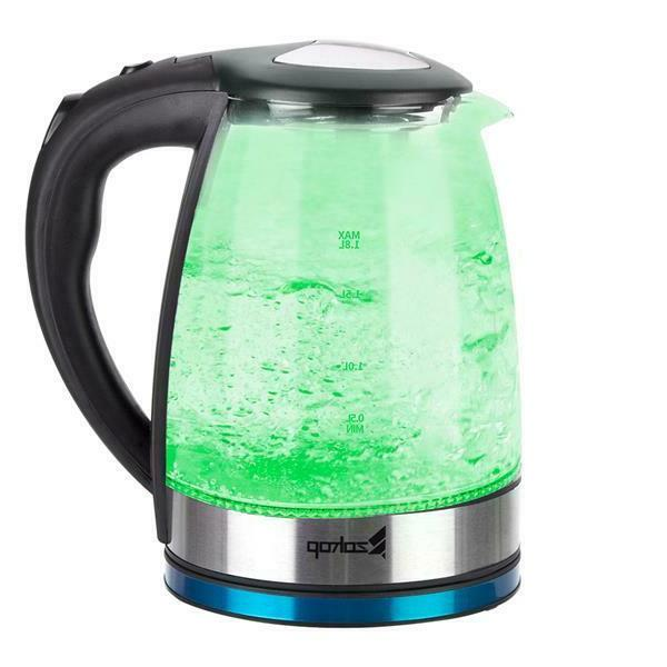 ZOKOP 1.8L Color LED Stainless Steel Kettle