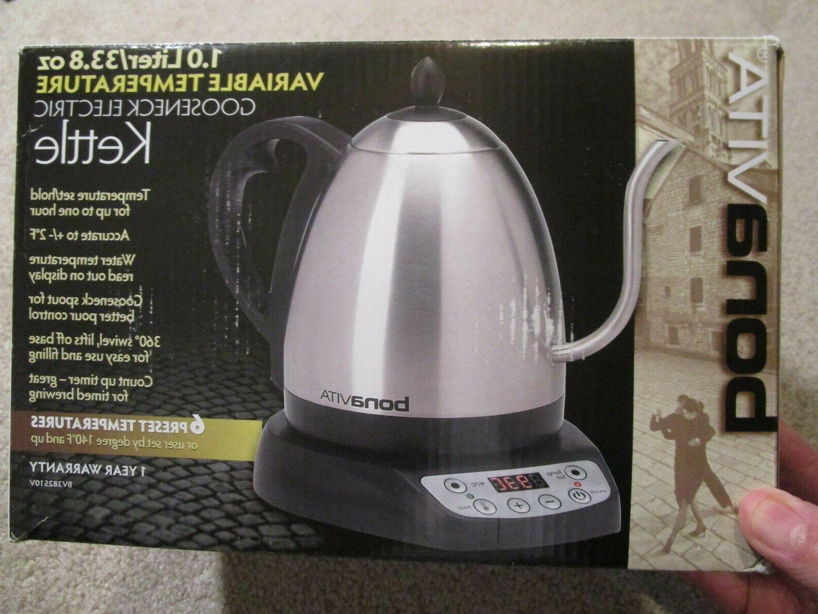 New Stainless 1.0L Quick Gooseneck Kettle