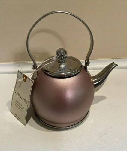 Creative Home Nobili Stainless Steel Tea Kettle Golden W/ Infuser 1