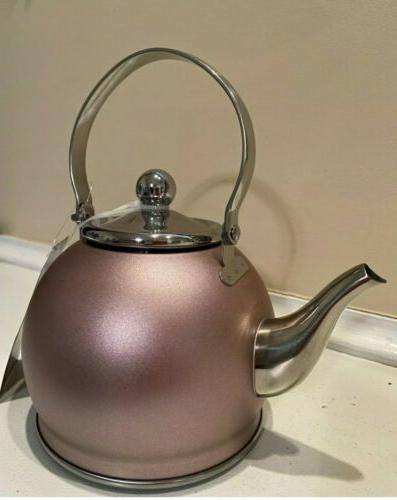 Creative Home Nobili Tea Stainless Steel Tea Kettle Golden W/ 1