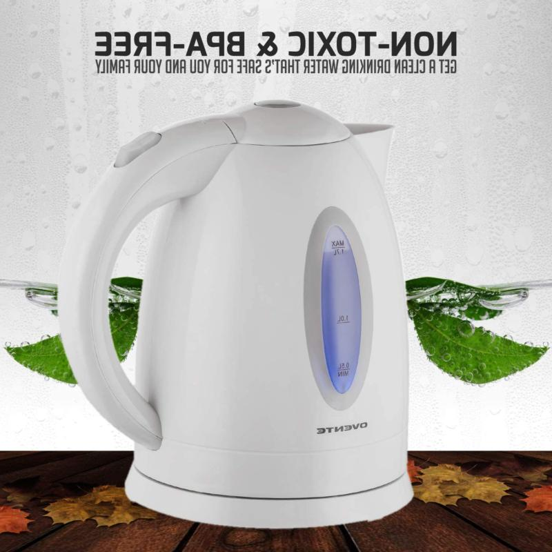 Ovente 1.7L Kettle, Fast Water with...