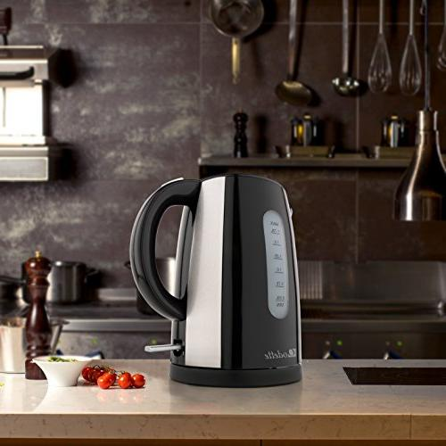 Odette Boil Cup Electric Kettle with Shut Off, Boil Dry Protection and Double Handle