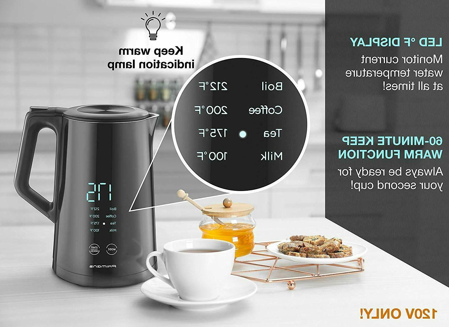 Smart Electric Kettle Temperature - Display - Keep