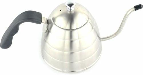 Stainless Coffee/Tea Pot Kettle Stovetop Silver