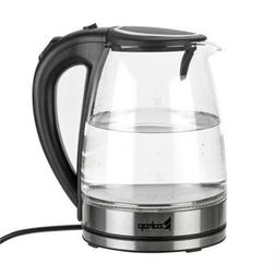 LED Fast Boiling 1.8L Electric Kettle Glass Coffee Hot Water
