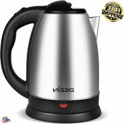 NEW 2 LITER ELECTRIC KETTLE, STAINLESS STEEL