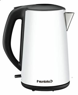 NEW CUISINART CORDLESS ELECTRIC KETTLE WHITE 1.5 LITER PORTA