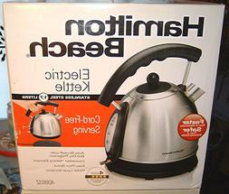 NIB Hamilton Beach 1.7L Stainless Steel Electric Kettle 4089