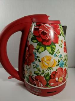The Pioneer Woman 1.7 Liter Vintage Floral Electric Kettle,