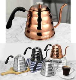 40oz Stainless Steel Pour Over Coffee Kettle Fixed Thermomet