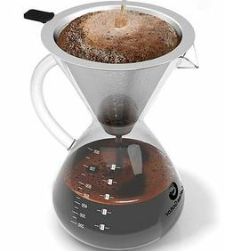 Large Pour Over Coffee Maker by Coffee Gator. For perfect ha