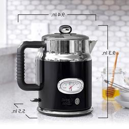 Retro Electric Kettle 1.7L Stainless Steel Kettles Coffee Te