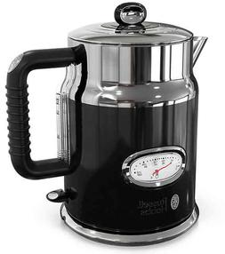 Russell Hobbs Retro Style 1.7-Liter Electric Kettle in Black