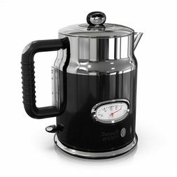 Russell Hobbs Retro Style 1.7L Electric Kettle, Black  Stain