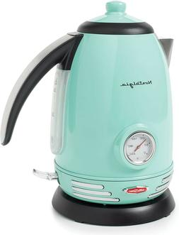 Nostalgia RWK150AQ Retro Stainless Steel Electric Water Kett