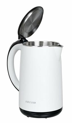 Stainless Steel Double Wall Electric Water Kettle 1.8 Quart