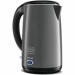 Stainless Steel Double-Walled Electric Kettle  Kitchen &amp