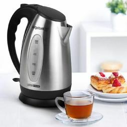 1.7 Liter 7 Cup Stainless Steel Electric Cordless Tea Kettle