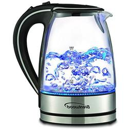 Stainless Steel Glass Electric Hot Water Tea Kettle 1.7-lite