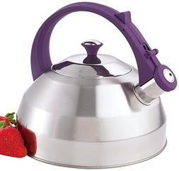 Creative Home Steppes Stainless Steel Whistling Tea Kettle w