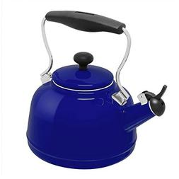 Chantal Cobalt Blue Enamel-on-Steel 1.7 Quart Vintage Teaket