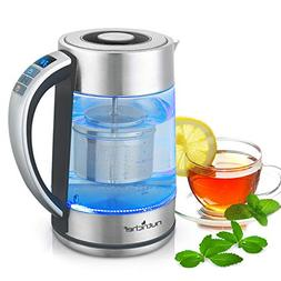 Digital Hot Water Glass Kettle - 1.7L Portable Easy Pour Tea